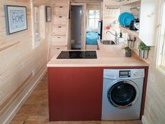 Tiny House With Washer/Dryer- article with best combo washer/dryers and portable washing machines