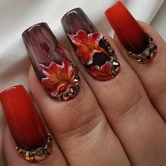 "4,042 Likes, 54 Comments - 💅🏽Vanessa Gisselle Colón (@vanessa_nailz) on Instagram: ""These left me speechless I had to share again 😍🍁 So Beautiful created By the Lovely @mbettinanails…"""