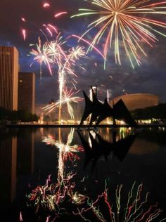 Best fireworks in Albany, NY are at the Empire State Plaza....just steps away from Hampton Inn & Suites Downtown!