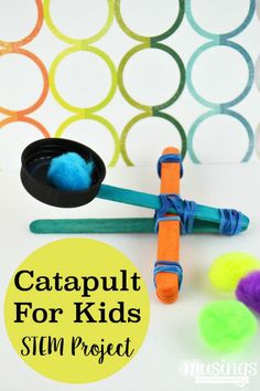 Make your own Catapult for Kids - they'll love this fun STEM project and you'll love how it'll keep them busy for hours!
