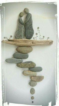 rock and pebble art 14