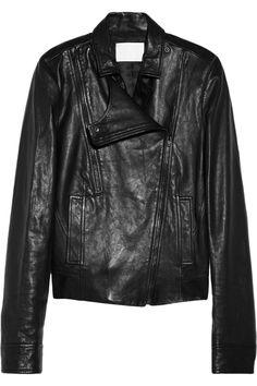 Alexander Wang|Leather biker jacket|NET-A-PORTER.COM