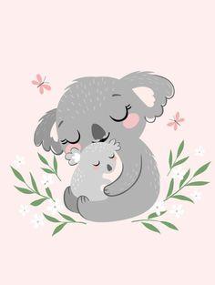 Aloha koala tropical baby shower thank you sticker