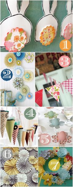 Tons of ideas on how to decorate your home using inexpensive scrapbook paper! Love it.