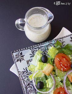 Olive Garden Dressing*1/2 C mayonnaise,  1/3 C white vinegar,  1 t Canola oil,  2 T corn syrup,  4 T Parmesan cheese,  1 t minced garlic,  1/2 t Italian Seasoning,  1/2 t parsley, dried,  1 T lemon juice.