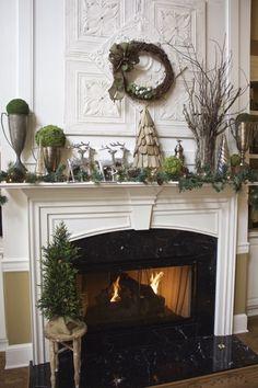 329 best christmas mantels images on pinterest christmas mantles merry christmas and christmas fireplace - Fireplace Christmas Decorations Pinterest