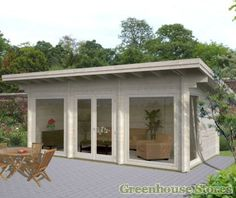 Palmako Heidi Log Cabin from Greenhouse Stores with free UK home delivery. Size: 11ft x 20ft.  http://www.greenhousestores.co.uk/Palmako-Heidi-Log-Cabin.htm