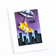 March Release Countdown Teasers Day Under My Umbrella Scrapbook Albums, Diy Scrapbook, Cheap Stamps, Copic Sketch Markers, White Gel Pen, Under My Umbrella, Stencil Diy, Stencils, Ink Pads