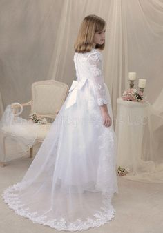 First Communion Dresses | Alexa First Communion Dress (optional train)