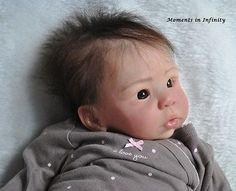 Reborn Asian Baby Girl Eleanor Anne Sculpt Laura Tuzio Ross Layaway MR Mohair
