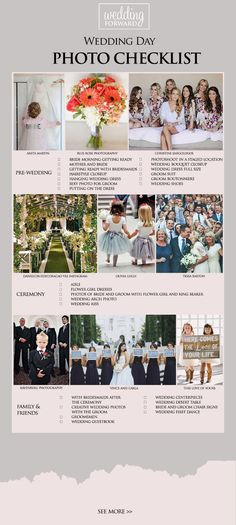 90 Must Have Wedding Photos In Your Album ❤ Take a look of wedding photos we collected for you from all over the Pinterest to help organize the best ideas. See more: http://www.weddingforward.com/wedding-photos-album/ #wedding #photochecklist