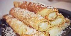 kaprazatos-palacsinta-fott-vaniliakremmel-nem-lehet-megunni-ezt-a-finomsagot Hungarian Recipes, Russian Recipes, Healthy Cooking, Cooking Recipes, Healthy Recipes, Bread Dough Recipe, Cake Recipes, Dessert Recipes, Tasty