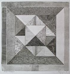 Roger Vieillard, Pyramide extrême Engraving, 1970