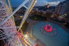 Installée jardin du Mail, la grande roue de Soleils d'hiver offre une vue unique sur #Angers, à près de 40 mètres de haut. (Photo: Thierry Bonnet/Ville d'Angers)