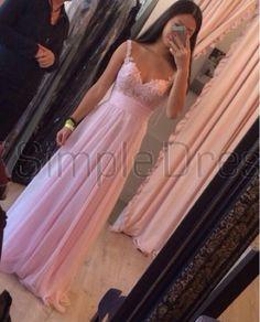 Simple Dress Long Sweetheart Chiffon Floor-length Prom Dresses/Evening Dresses   CHPD-7165