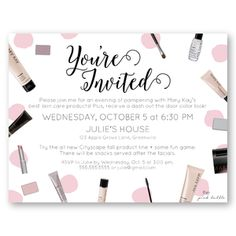 Customizable mary kay brush clinic invitation brush up on color product party invite di 01g mary kay stopboris Gallery
