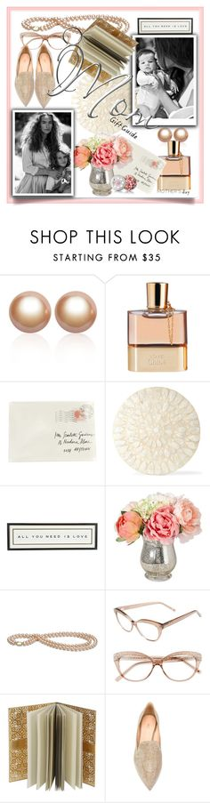 """Mother's Day Gift Guide"" by wuteringheights ❤ liked on Polyvore featuring Amour de Pearl, Chloé, Moschino, Deborah Rhodes, Vintage Playing Cards, Kate Spade, Christian Lacroix, Nicholas Kirkwood, Guerlain and mothersdaygiftguide"