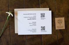 OMG. QR codes on a wedding invite. Add this to the list of things I will NEVER do!!!
