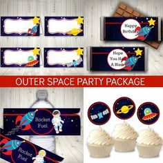 themed birthday party Ideas themed birthday party Kids themed birthday party Boy themed birthday party Games 18 awesome ideas for a fun filled outer space birthday party. Easy ideas for space themed Space Printables, Printable Designs, Party Printables, Birthday Decorations, Birthday Party Themes, Boy Birthday, Space Food, Outer Space Party, Food Tent