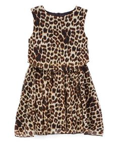 Another great find on #zulily! Black Leopard Layered Dress - Toddler & Girls #zulilyfinds