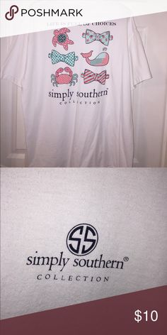 Simply Southern T Shirt Simply Southern white t shirt. Life is full of choices. Simply Southern Tops Tees - Short Sleeve