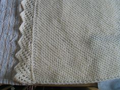 Easy Baby Blanket with knit edging