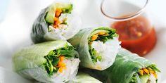 Coconut chicken rice paper rolls / Donna Hay Magazine