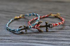 DIY: fishtail braided anchor bracelet