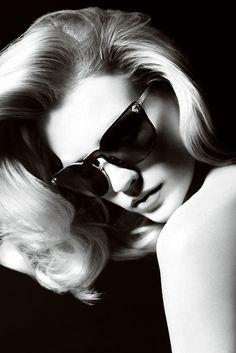 January Jones for Versace accessories S/S 2011 by Mario Testino
