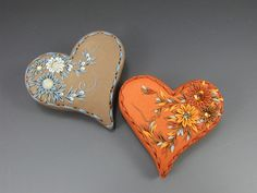 Large Heart Brooches