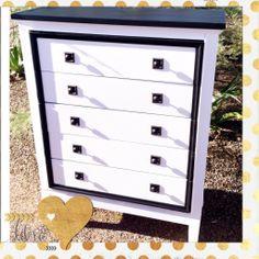 Custom painted dresser.