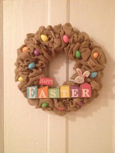 Easter Burlap Wreath!