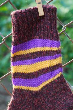 Wool HANDMADE Knitted Warm socks Size 8-9 24.5 cm by KnitAndCozy #KnitAndCozy