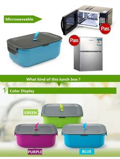 New eco-safe lunch box (silicone  BPA PP) Lunch Box Containers, Blue Green, Eco Friendly, Packing, Bag Packaging, Duck Egg Blue
