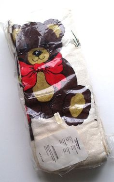 Retro 70s Teddy Bear 20 Pc Towel Set New in Pkg Towels Washcloths Novelty