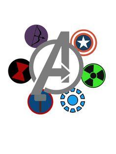Avengers symbols together- good idea for canvas shoe design