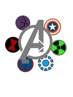 Avengers symbols together