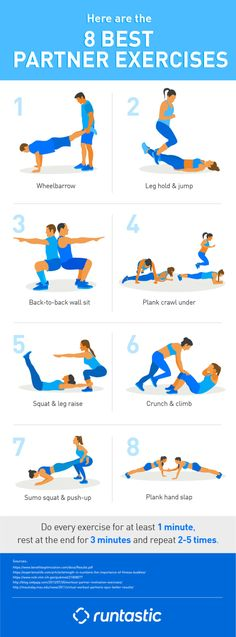 A training partner is worth it! Find out why and get the 8 best partner workout exercises. A training partner is worth it! Find out why and get the 8 best partner workout exercises. Fitness Workouts, Fitness Gym, Buddy Workouts, At Home Workouts, Fitness Motivation, Extreme Workouts, Cardio Yoga, Pilates, Partner Yoga