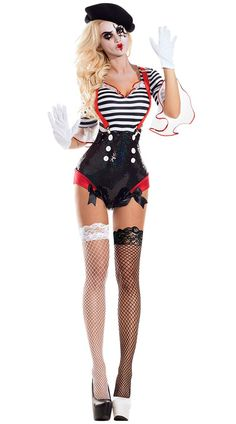 Sexy Clown Costume, Sexy Pirate Costume, Ringmaster Costume, Toddler Halloween Costumes, Halloween Dress, Halloween Outfits, Adult Halloween, Black And White Costume, Red Suspenders
