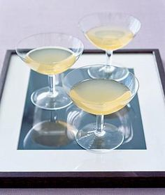 Make a chic serving tray with an extra frame. Place a double of your favorite photo (so as not to ruin the original in case of condensation) under the glass and set out the drinks.