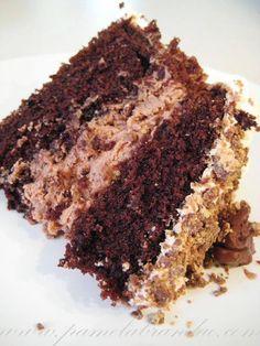 Bolo de Chocolate com Recheio de Nutella. | Cozinha Menina