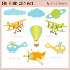 Fly High Digital Clipart Set by riefka on Etsy, $5.00