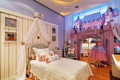 "O quarto dos sonhos de todas as meninas ""Quarto da princesa"" Casa Cor Santa Catarina"