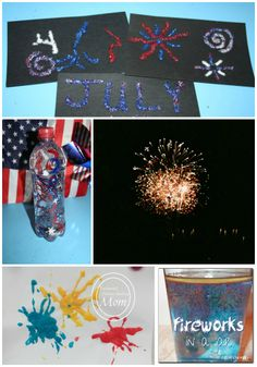 Create your own fireworks with these fun art and science projects! #stem #july4