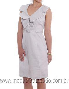 Moda em Atacado | Moda Feminina / Vestidos - Vestido piquet com cinto