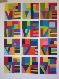 ~ Zany Quilter ~: LOVE blocks...love this - paint with some color rules