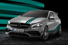 The #Mercedes #AMG A 45 #Petronas 2015 #WorldChampion Edition http://www.benzinsider.com/2015/11/mercedes-amg-a-45-petronas-2015-world-champion-edition-revealed/