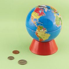 Globe Coin Bank- We had one of these