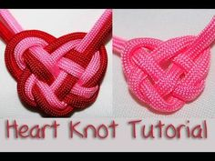 Heart Knot tutorial - pretty cool, but you'll have to guess how much cording to use.