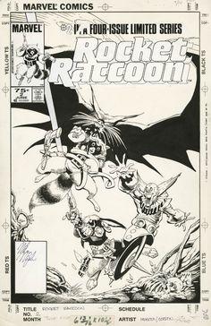 Mike Mignola - Rocket Raccoon #2 Cover (Marvel, 1985) Comic Art